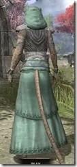 Pyandonean Homespun - Khajiit Female Robe Rear