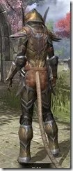 Dark Elf Dwarven - Khajiit Female Rear