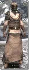 Dark Elf Homespun - Argonian Male Robe Front