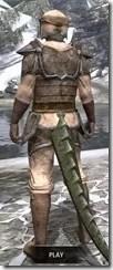 Dark Elf Homespun - Argonian Male Shirt Rear