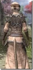 Dark Elf Homespun - Khajiit Female Robe Close Rear