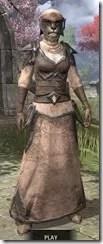 Dark Elf Homespun - Khajiit Female Robe Front