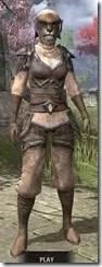 Dark Elf Homespun - Khajiit Female Shirt Front