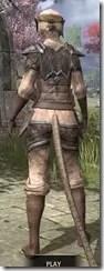 Dark Elf Homespun - Khajiit Female Shirt Rear