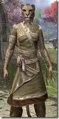Deepwoods Pod-Singer Tunic Khajiit Female Close Front