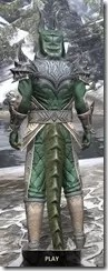 Ebonheart Pact Homespun - Argonian Male Shirt Rear