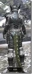 Ebony Iron - Argonian Male Rear