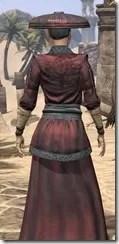 Honor Guard Ancestor Silk - Female Robe Close Rear