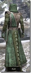 Imperial Homespun - Argonian Male Robe Rear