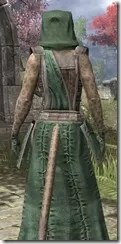 Imperial Homespun - Khajiit Female Robe Close Rear