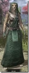 Imperial Homespun - Khajiit Female Robe Front