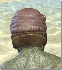 Imperial Mananaut Cap & Goggles - Argonian Male Rear
