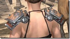 Lyris Titanborn's Pauldrons - Female Rear