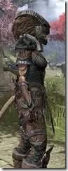 Wood Elf Dwarven - Khajiit Female Close Side