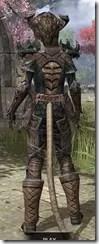 Wood Elf Dwarven - Khajiit Female Rear
