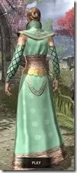 Jarl Justice's Formal Frock Dyed Rear