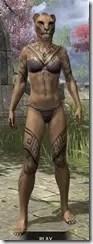 Alftand Glacial Body Tattoos Khajiit Female Front