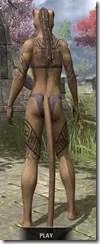 Alftand Glacial Body Tattoos Khajiit Female Rear
