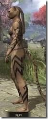 Dwarven Centurion Body Tattoos Khajiit Female Side