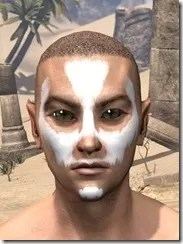 Ghost Goblin Face War Paint Male Front