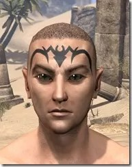Meridian Radiance Face Tattoos Male Front