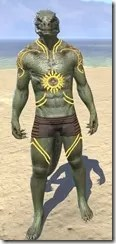 Meridian Sunburst Body Tattoos Argonian Male Front