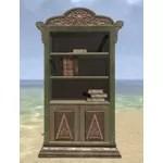 Elsweyr Bookshelf, Elegant Wooden Full