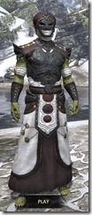 Pellitine Light - Argonian Male Robe Front