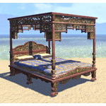 Elsweyr Bed, Blue Four-Poster