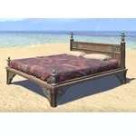 Elsweyr Bed, Quilted Double