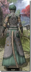 Pellitine Homespun - Khajiit Female Robe Rear
