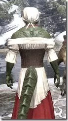 Tavern Maid - Argonian Male Close Rear