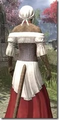 Tavern Maid - Khajiit Female Close Rear