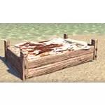 Solitude Bed, Rustic Cowhide Single
