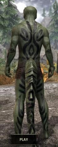 Forsaken Sacrifice Body Markings - Argonian Male Rear