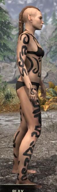 Forsaken Sacrifice Body Markings - Female Right