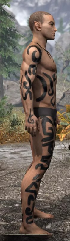 Forsaken Sacrifice Body Markings - Male Right
