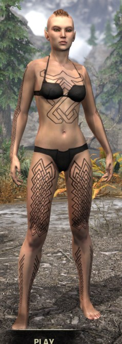 Karthwatch Guardian Body Tattoo - Female Front