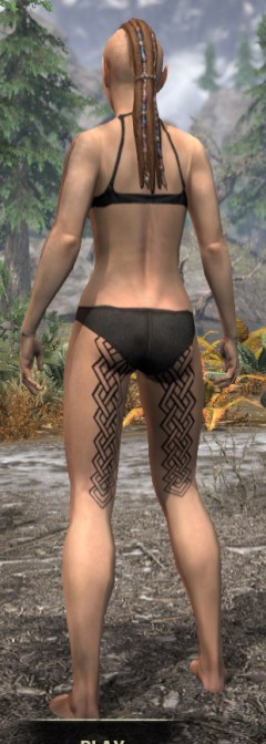Karthwatch Guardian Body Tattoo - Female Rear