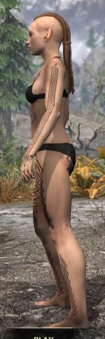 Karthwatch Guardian Body Tattoo - Female Side