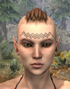 Karthwatch Guardian Face Tattoo - Female Front
