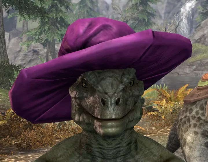 Spirited Soubrette Round Cap - Argonian Male Front