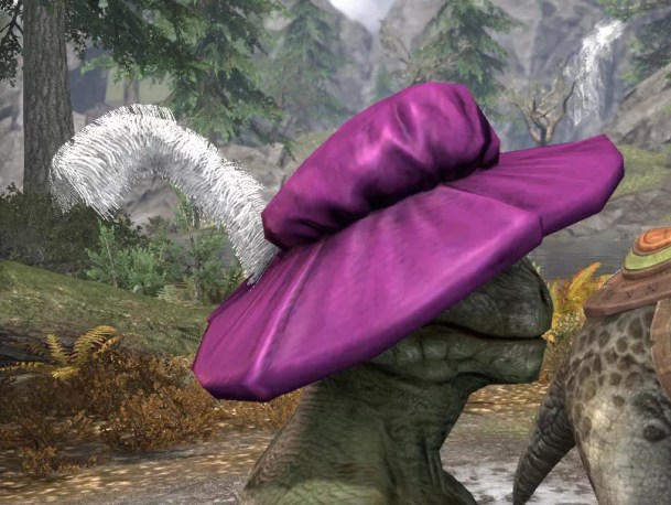 Spirited Soubrette Round Cap - Argonian Male Right