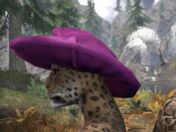 Spirited Soubrette Round Cap - Khajiit Female Side