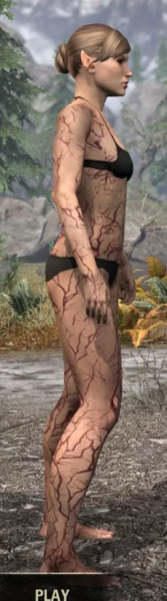 Thrall's Arterial Map Body Marks - Female Right
