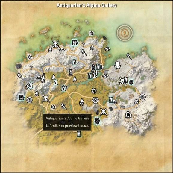 Antiquarian's Alpine Gallery map 1