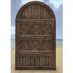 Solitude Door, Arched Wooden
