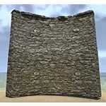 Solitude Wall, Curved Stone