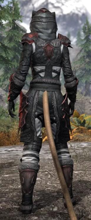 Thorn Legion Heavy - Khajiit Female Rear