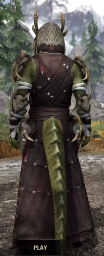 Ancestral Reach Light - Argonian Male Robe Rear